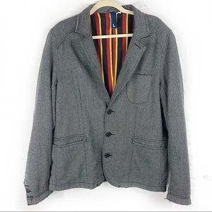 H & M Divided Jacket W/ Elbow Patches Raw Edges